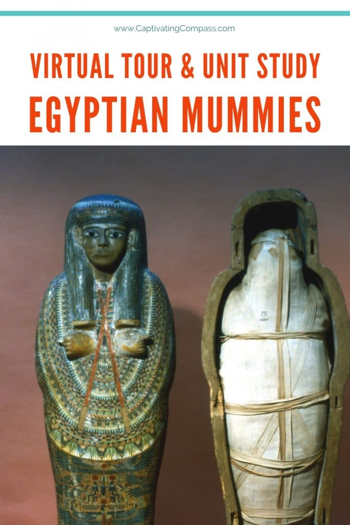 While you're at home, study the exciting world of Ancient Egypt with this Egyptian Mummies Virtual Museum Tour & Unit Study (until 3/28/20!) #fhdhomeschoolers #freehomeschooldeals #ancientegypt #virtualtour #hsmoms