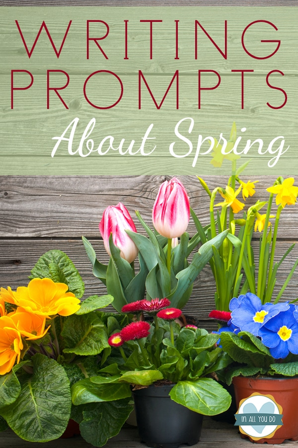 FREE Spring writing prompts. #freehomeschooldeals #fhdhomeschoolers #springwritingprompts
