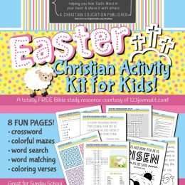 While you're stuck indoors this Easter, check out FREE Printable Easter Activity Kit for Kids! #fhdhomeschoolers #freehomeschooldeals #easteractivities #bible #christianhomeschooling