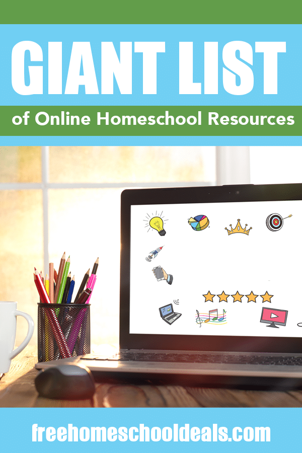 Keep calm and carry on with this GIANT List of Online Homeschool Resources to Use During School Closures! #fhdhomeschoolers #freehomeschooldeals #covid19isolation #homeeducation #hsmoms