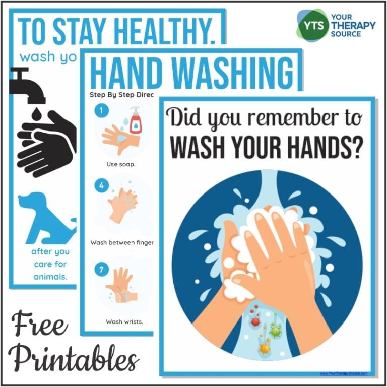 Hand Washing FREE Printable Posters. #fhdhomeschoolers #freehomeschooldeals #handwashing #handwashingposters #handwashingtechniques