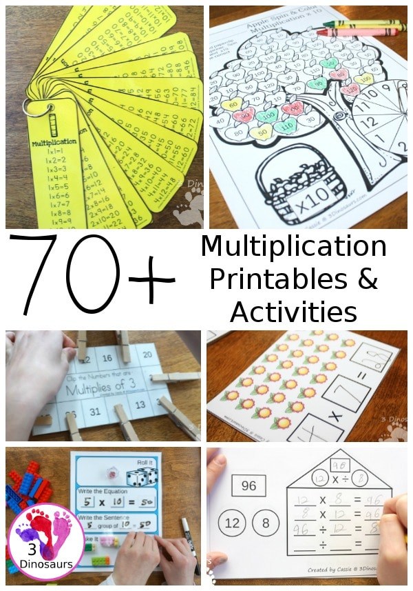 70+ Multiplication Practice  Resources.  #fhdhomeschoolers #freehomeschooldeals #multiplication #multiply #multiplicationresources