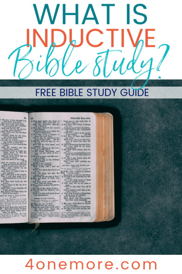 FREE Guide to an Inductive Bible Study. #fhdhomeschoolers #freehomeschooldeals #inductivebiblestudy #inductivestudy