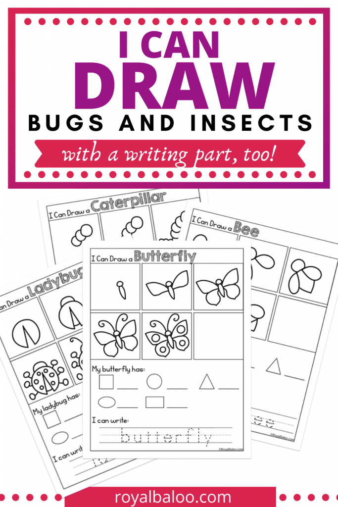 FREE Drawing Bugs Writing Activity. #freehomeschooldeals #fhdhomeschoolers #bugswritingactivity #bugthemedresources #insectwritingactivity #drawingbugsactivity #insectdrawingactivity