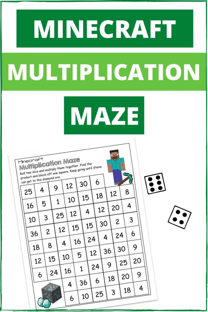 Multiplication Minecraft FREE Mazes. #freehomeschooldeals #fhdhomeschoolers #multiplicaitonmazes #Minecraftresources #minecraftmultplicationmazes