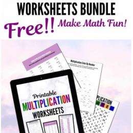 Fun FREE Printable Multiplication Bundle. ##freehomeschooldeals #fhdhomeschoolers #multiplicationbundle #multiplicationprintables