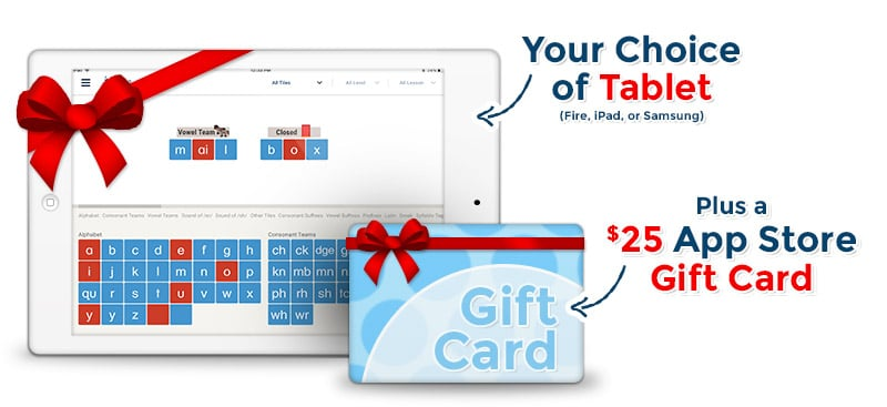 Until May 1, 2020, Enter to Win a Tablet & a $25 Letter Tiles App Store Gift Card! #fhdhomeschoolers #freehomeschooldeals #allaboutlearning #giveaways #hsmoms