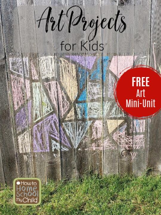 FREE Art Mini-Unit. #kidsartprojects #artminiunit #fhdhomeschoolers #freehomeschooldeals