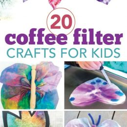 20 Awesome Coffee Filter Crafts for Kids. #fhdhomeschoolers #freehomeschooldeals #coffeefiltercrafts #artcrafts #coffeefilteractivities