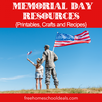 Celebrate this national holiday with these FREE Memorial Day Printables, Crafts, & Recipes! #fhdhomeschoolers #freehomeschooldeals #memorialday #hsmoms #homeschooling #hsdays