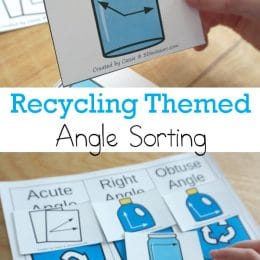 This Earth Day, learn more about recycling and work on angles with this FREE Recycling-Themed Angle Sort! #fhdhomeschoolers #freehomeschooldeals #earthday #geometry #hsmath