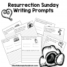 This Easter, celebrate the true meaning of the holiday with these FREE Resurrection Writing Prompts! #fhdhomeschoolers #freehomeschooldeals #writingprompts #Easter #resurrection