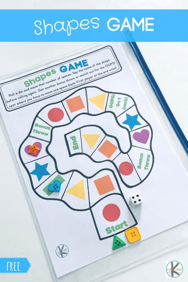 FREE Shape Games for Kids. #fhdhomeschoolers #freehomeschooldeals #shapegames #shapegameprintables #learningshapes #kidshapegames