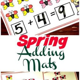 FREE Spring Butterfly Addition Mats. #freehomeschooldeals #fhdhomeschoolers #springadditionresource #butterflyadditionmats #additionmats
