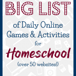 Add more tech time to your school days with this Big List of 50+ FREE Online Games & Activities for Homeschoolers! #fhdhomeschoolers #freehomeschooldeals #onlinegames #onlinehomeschool #hsmoms