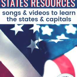 FREE Songs and Videos to Learn the 50 States. #freehomeschooldeals #fhdhomeschoolers #learning50states #songsandvideos #allaboutAmerica #50statesofamerica