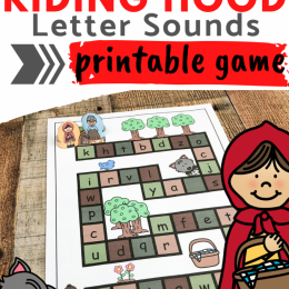FREE Printable Letter Sounds Game. #freehomeschooldeals #fhdhomeschoolers #littleredridinghoodgame #lettersoundsgame #lettersounds #littleredridinghoodactivity