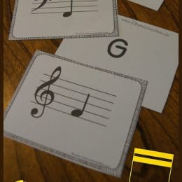 FREE Music Note Flashcards. #freehomeschooldeals #fhdhomeschoolers #musicnoteprintables #musicflashcards