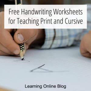 FREE Print and Cursive Handwriting Worksheets. #freehomeschooldeals #fhdhomeschoolers #printhandwritingworksheets #cursivehandwritingworksheets #printandcursive #handwritingworksheets