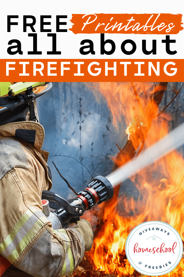 FREE All About Firefighting Printables. #freehomeschooldeals #fhdhomeschoolers #firefightingprintables #allaboutfirefighting