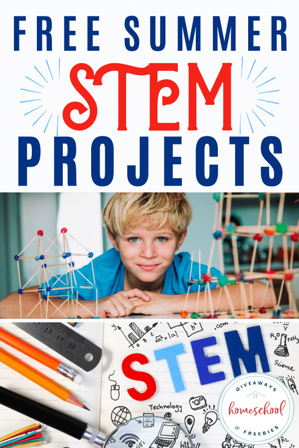 FREE STEM Projects for the Summer. #freehomeschooldeals #fhdhomeschoolers #summerSTEMprojects #STEMprojects #summerprojects
