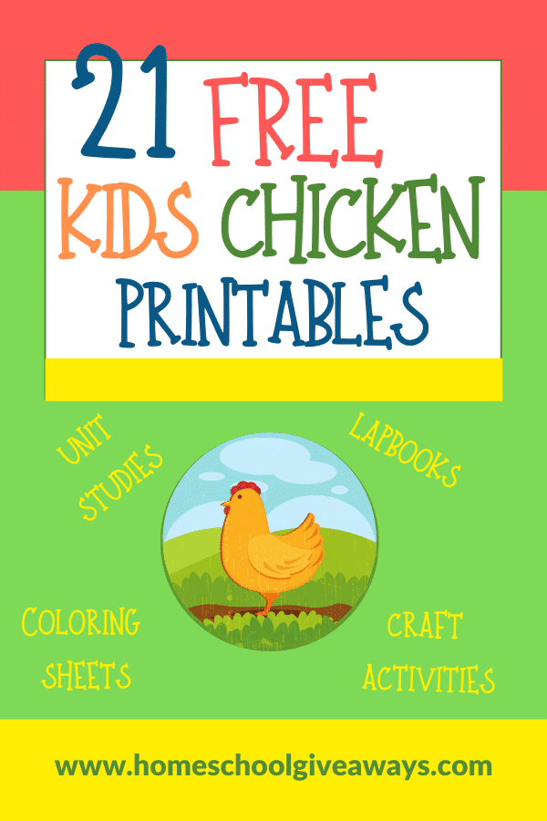 21 FREE Chicken Printables for Kids. #freehomeschooldeals #fhdhomeschoolers #chickenlifecycle #chickenprintabls #chickenresources #allaboutchickens