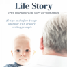 Build your child's autobiographical skills with these FREE Write Your Life Story Printables! #fhdhomeschoolers #freehomeschooldeals #writing #autobiographywriting #lifestory