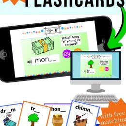 Make phonics a little more interactive with these FREE Digital Phonics Flashcards (subscriber freebie)! #fhdhomeschoolers #freehomeschooldeals #digitalphonics #phonicsflashcards #reading