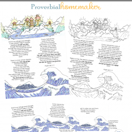 FREE Psalm 46 Printable. #freehomeschooldeals #fhdhomeschoolers #psalm46 #bestillandknow