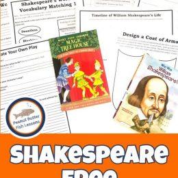 FREE William Shakespeare Unit Study. #freehomeschooldeals #fhdhomeschoolers #williamshakespeare #shakespeareunitstudy