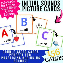 Get started on reading with these FREE Beginning Sounds Flashcards! #fhdhomeschoolers #freehomeschooldeals #reading #phonics #hsmoms