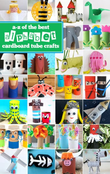 Toilet Paper Tube A - Z Crafts. #freehomeschooldeals #fhdhomeschoolers #toiletpapercrafts #toiletrollcrafts #toieltpapertubecrafts #summercrafts