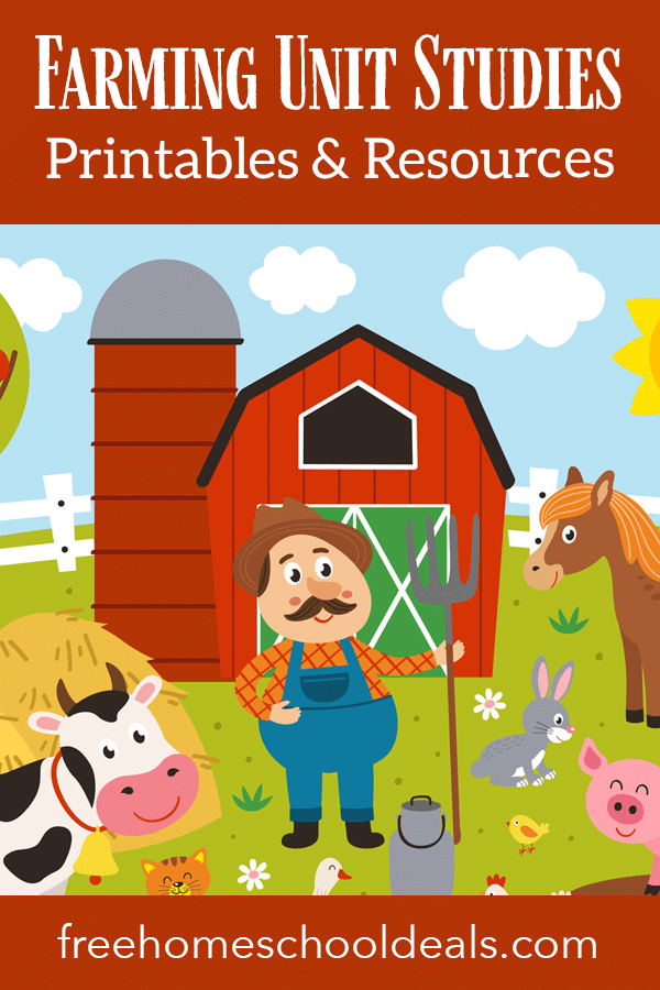 Delve into the world of farming with these FREE Farming Unit Studies, Printables, & Resources! #fhdhomeschoolers #freehomeschooldays #onthefarm #farmunit #hsmoms