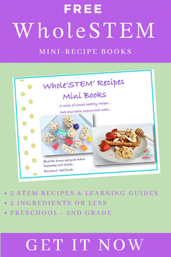 Work on science and math skills with these FREE Whole 'STEM' Mini-Books! #fhdhomeschoolers #freehomeschooldeals #stem #stemrecipes #hsdays