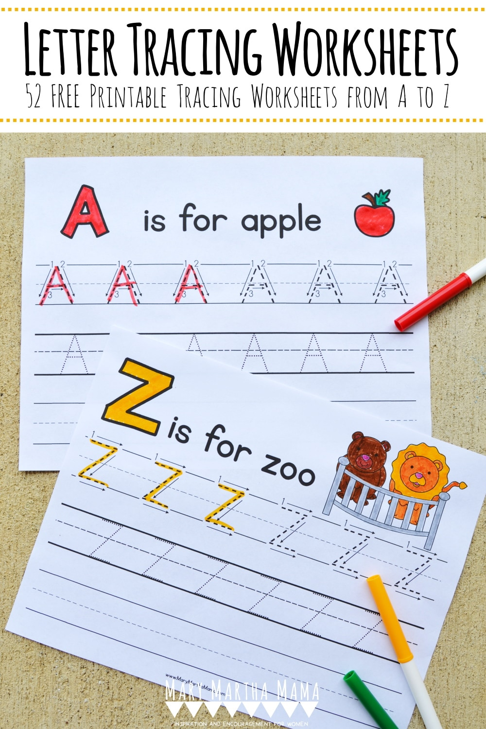 Practice letter formation with your child with this FREE Printable Letter Tracing Packet! #fhdhomeschoolers #freehomeschooldeals #lettertracing #handwriting #hsmoms