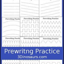 FREE Easy No-Prep Prewriting Worksheets. #freehomeschooldeals #fhdhomeschoolers #prewritingworksheets #prewritingpractice #noprepprewriting