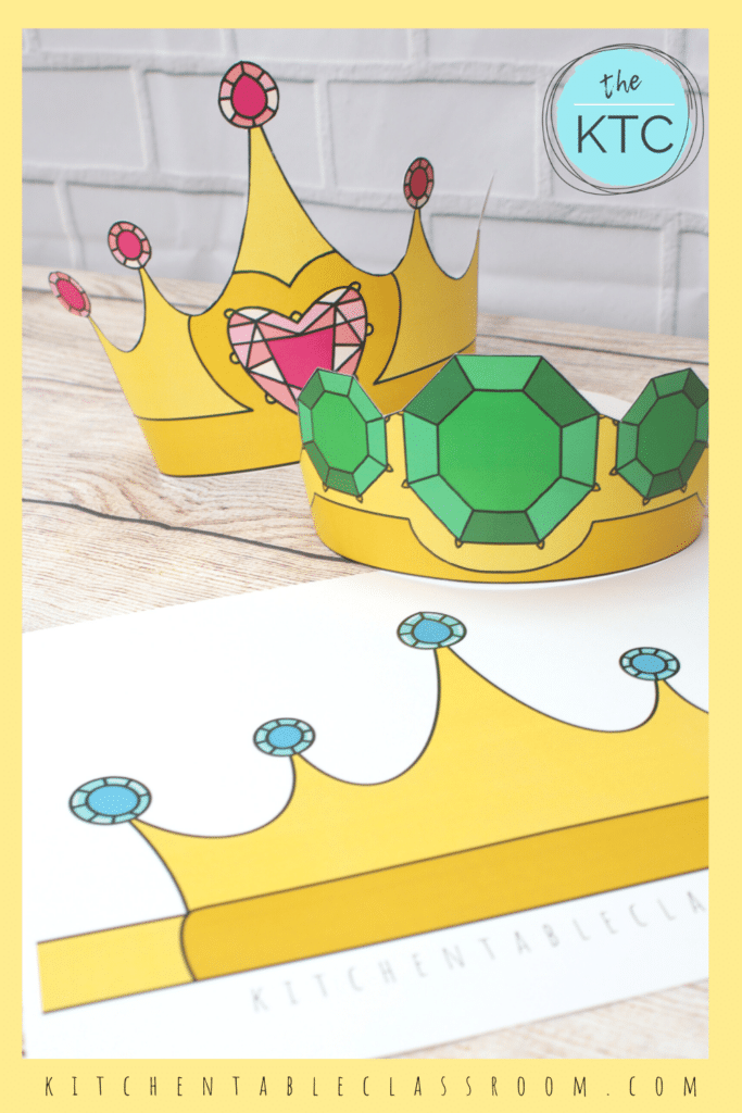 8 FREE Printable Crown Templates. #freehomeschooldeals #fhdhomeschoolers #crowntemplates #DIYcrowntemplates #crownprintables