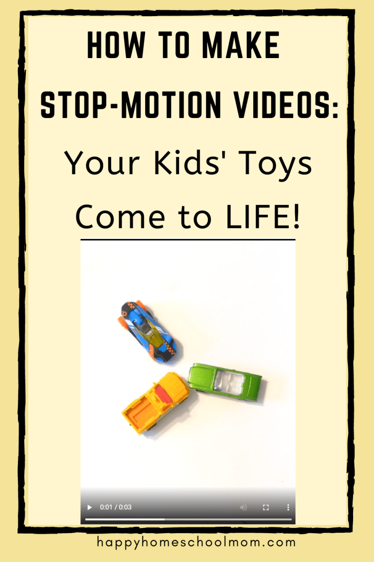 Your child will love creating their own video stories! Check out How to Make Stop-Motion Videos FREE Tips! #fhdhomeschoolers #freehomeschooldeals #stopmotionvideos #videocreation #hsdays