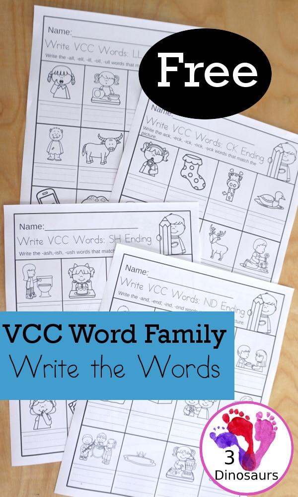 FREE CVCC And CCVCC No Prep Worksheet Free Homeschool Deals ©