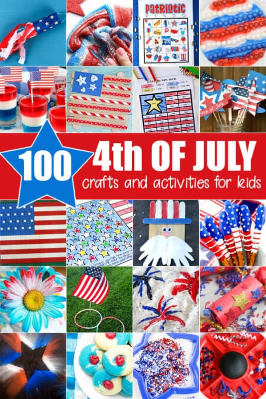 100 Independence Day Crafts and Activities for Kids. #fhdhomeschoolers #freehomeschooldeals #IndependenceDaycrafts #IndependenceDayactivities #4thofJulyactivities #4thofJulycrafts #FourthofJulycrafts #FourthofJulyactivities