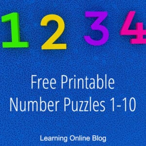 Number 1 -10 FREE Printable Puzzles. #freehomeschooldeals #fhdhomeschoolers #printablenumberpuzzles #numberpuzzles #numberpuzzleprintables #numberpractice