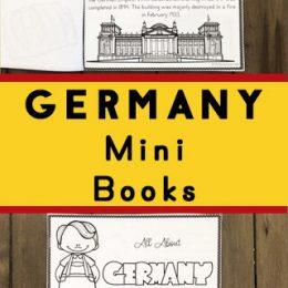 FREE Printable Book on Germany. #freehomeschooldeals #fhdhomeschoolers #Germanyprintable #Germanybook #Germanyminibook