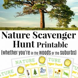 sample pages of nature scavenger hunt printable pack
