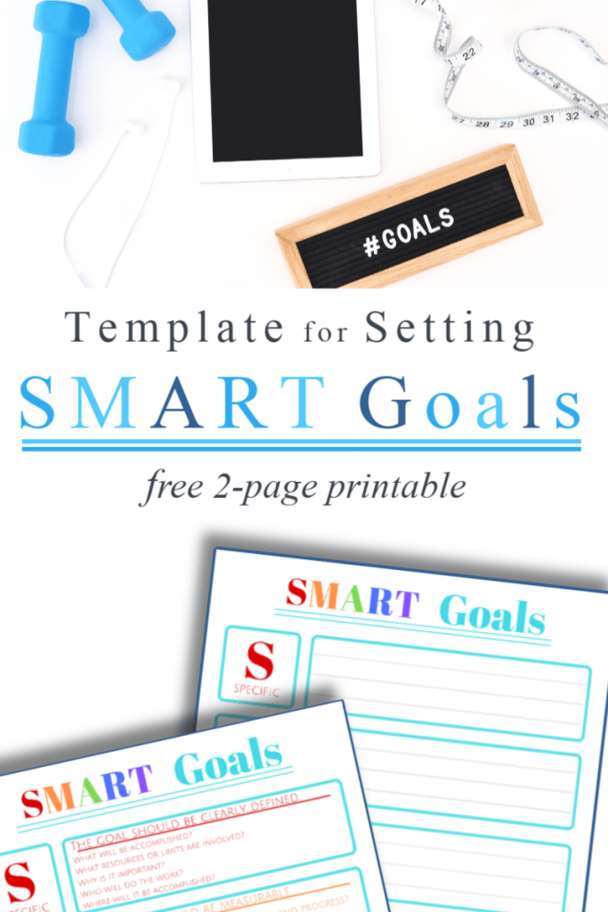 Create motivating and achievable goals this year with this FREE SMART Goals Template! #fhdhomeschoolers #freehomeschooldeals #smartgoals #homeschoolgoals #hsmoms