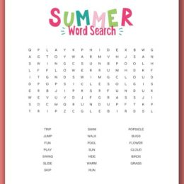 Keep your children's minds busy over the break with this FREE Summer Word Search! #fhdhomeschooler #freehomeschooldeals #summeractivities #wordsearch #hsmoms