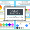 Color Theory Google Slide Interactive Activity. #fhdhomeschoolers #freehomeschooldeals #colortheoryactivity #GoogleSlidescolortheory #colortheoryinteractivelearning
