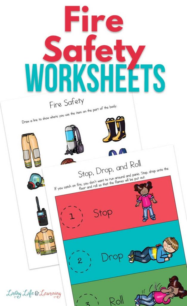 Fire Safety FREE Worksheets for Kids. #freehomeschooldeals #fhdhomeschoolers #firesafetyworksheets #firesafetyprintables #firesafetyresources
