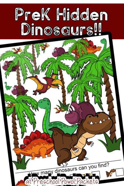 FREE Hidden Dinosaur Pictures. #freehomeschooldeals #fhdhomeschoolers #hiddenpictures #dinosaurprintables #dinosaurhiddenpictures
