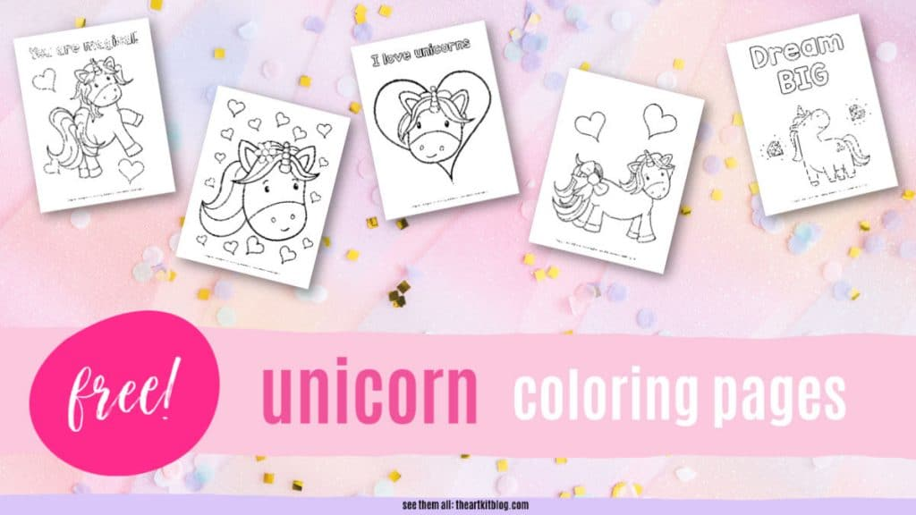 FREE Unicorn Coloring Pages. #fhdhomeschoolers #freehomeschooldeals #unicorncoloringpages #unicornprintables