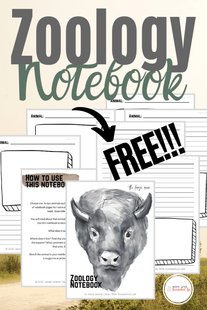 FREE Zoology Notebook Journal. #fhdhomeschoolers #freehomeschooldeals #zoologynotebook #zoologyjournal #zoologicalnotebook